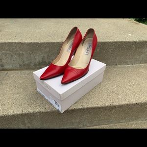Jimmy Choo Red Kid Leather Pumps